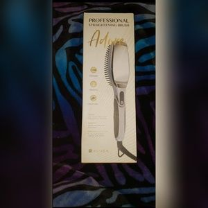 Hair brush straightener